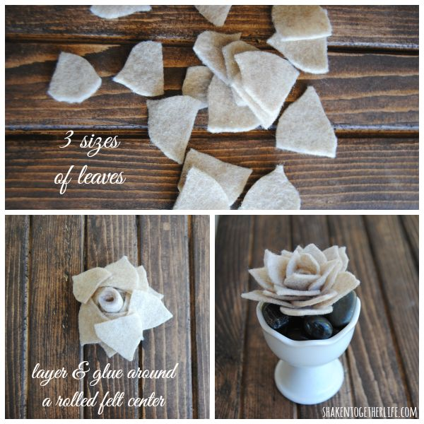 Quick and easy DIY felt succulents
