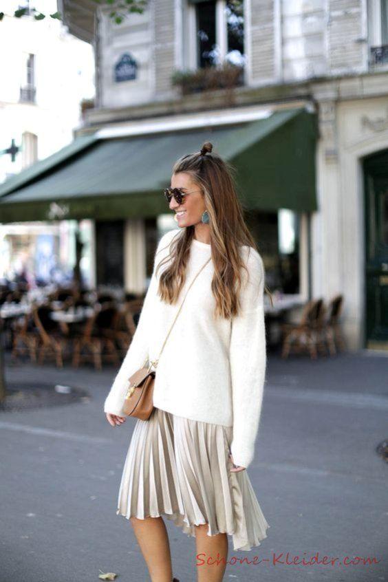 Faltenrock 2019 Damenmode Outfit Trends – #Damenmode #Faltenrock #outfit #Trends…