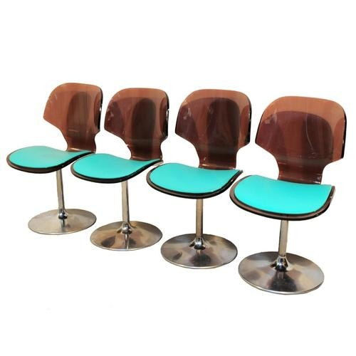 Set 4 Vtg Mid Century Modern Curved Lucite Chrome Tulip Swivel Dining Desk  Chair in Antiques  Furniture  Chairs 123 best Mid Century Modern images on Pinterest   Mid century  . Mid Century Modern Chairs Ebay. Home Design Ideas
