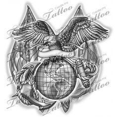 Marketplace Tattoo United States Marine Corps #14592   CreateMyTattoo.com