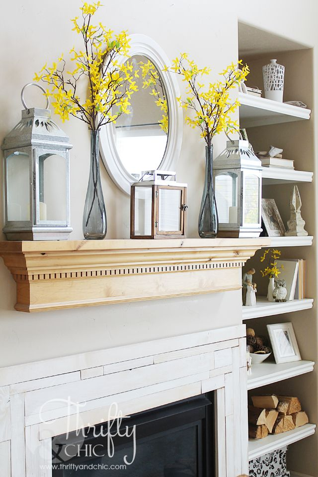 Summer mantel decor and decorating ideas
