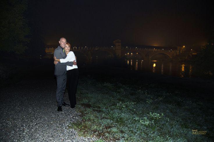 foto di matrimonio - Ponte coperto,PV - foto notturna. Foto Massimo Lazzari srls - S.Martino Siccomario PV