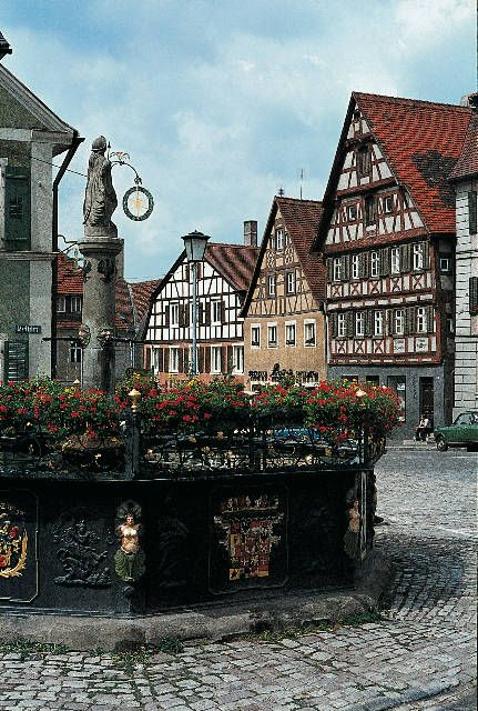 Medieval town square in Germany...Looks like a nice place to meet someone...
