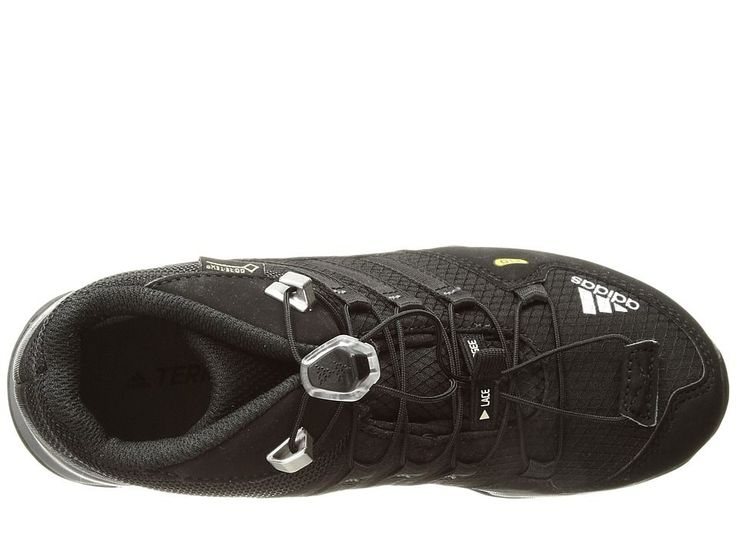 adidas Outdoor Kids Terrex Mid GTX (Little Kid/Big Kid) Kids Shoes Black/Black/Vista Grey