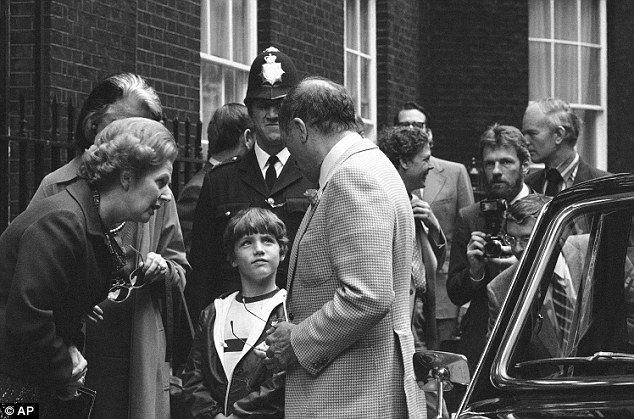 Lifetime in politics: Justin meets British Prime Minister Margaret Thatcher when he is tak...