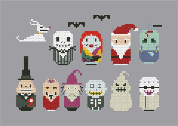 The Nightmare Before Christmas parody - Cross stitch PDF pattern