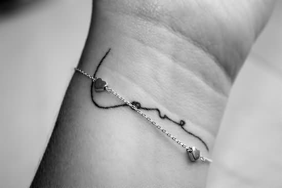 Awesome Love Tattoo On Left Wrist