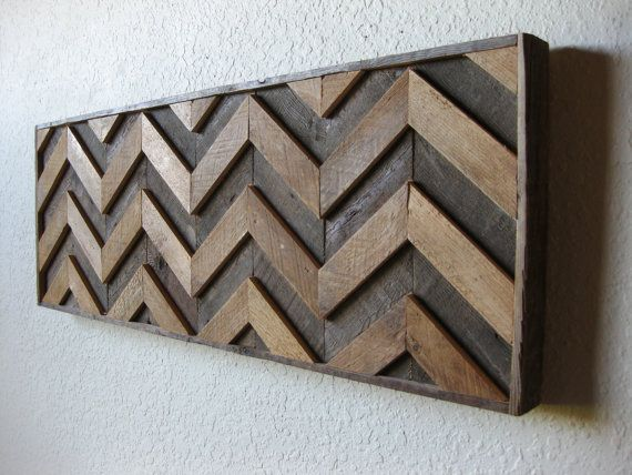 Reclaimed Barn Wood Rustic Chevron, Abstract Wall Art, Contemporary Simplicity, Rustic Elegance ~ Ch