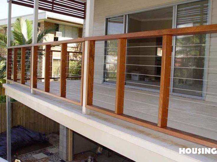 Barandas de madera para exterior buscar con google for Barandilla madera exterior