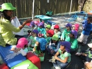 Lidcombe Preschool, NSW. We brainstormed ways of saving the environment and decided that we need to clean up the environment in order to keep it sustainable. #enviroweek13