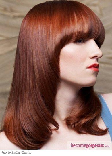 high end flickor rött hår