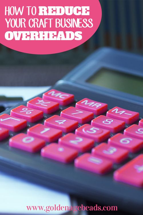 In this post, we'll look at some of the most common expenses that you'll come across when setting up and running a small craft business and explore some ways that you can keep these overheads to a minimum.