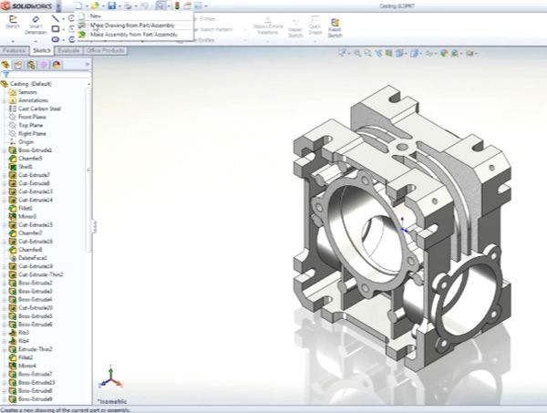SolidWorks Standard Powerful 3D mechanical design tool for rapid creation of parts, assemblies, and 2D drawings requiring minimal training. With unique tool sets for sheet metal, weldments, surfacing, and mold die design, it's the easiest to use and best product for creating world class designs. http://www.seacadtech.com/product/Mechanical-Design