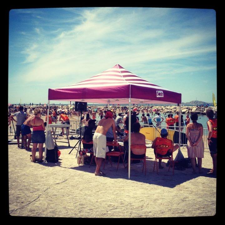 L'espace Sosh dédié à la compétition de Downwind Stand up paddle pour la Sosh Freestyle Cup !