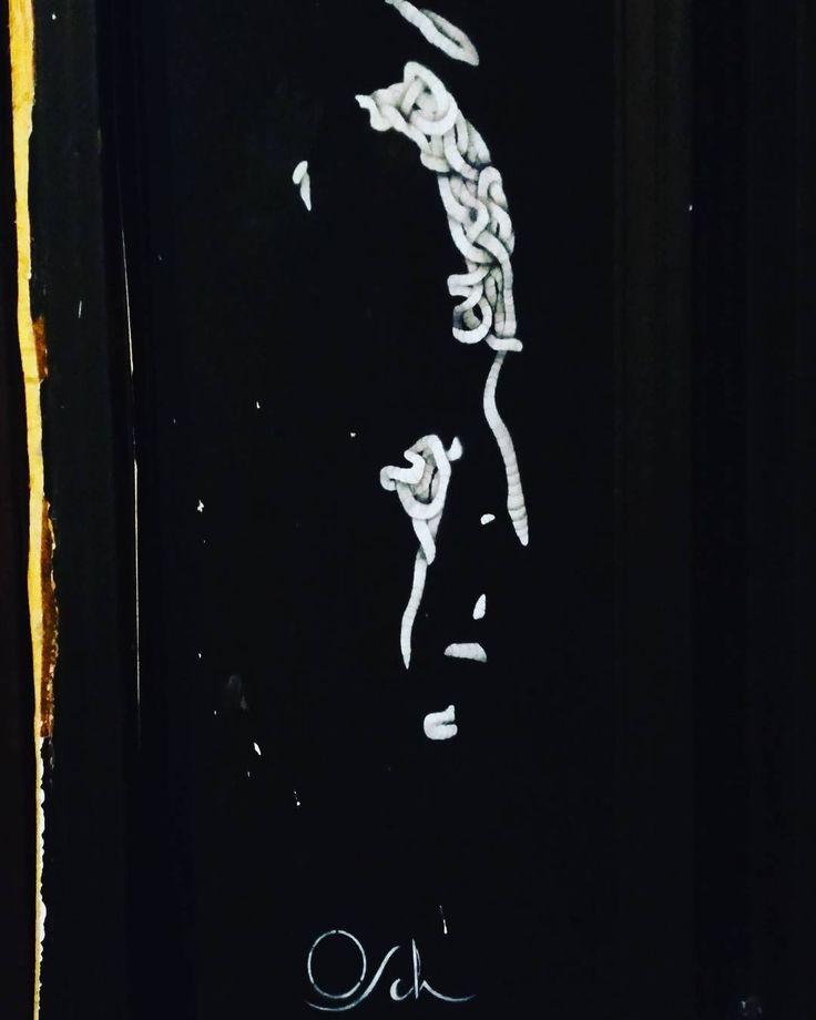 The urban art around here is just amazing. #hoxton #London #urbanart #thegodfather #blackandwhite #graffiti