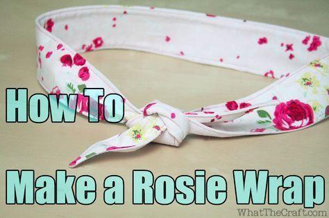How To Make a Rosie Wrap Head Band – DIY Fashion Tutorial | WhatTheCraft  #Band #DIY #fashion…   – Head Wraps