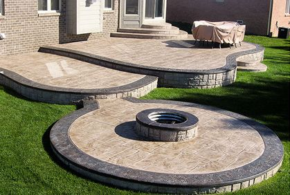 Stamped Concrete Patio Cost Ideas & 2017 Photos