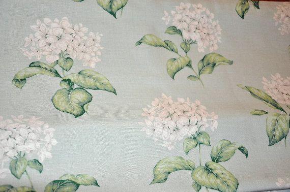 Laura Ashley Heligan Floral Fabric in Eau de nil on Etsy, 17,71€