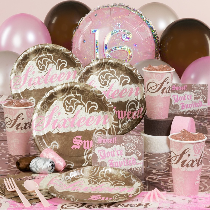 Sweet 16 Birthday Party Supplies : sweet 16 tableware - Pezcame.Com