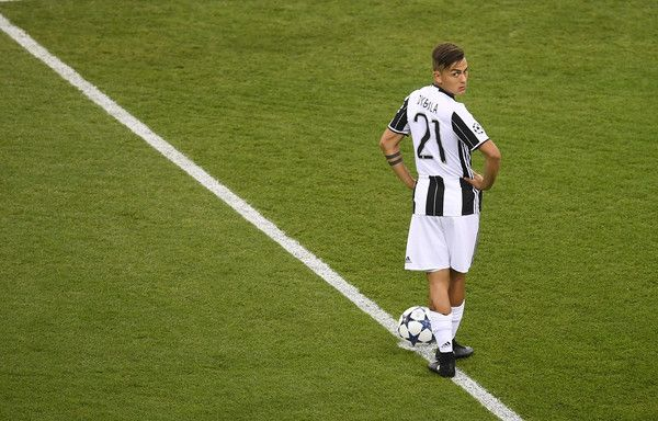 Paulo Dybala of Juventus looks on prior to the UEFA Champions League Final between Juventus and Real Madrid at National Stadium of Wales on June 3, 2017 in Cardiff, Wales.