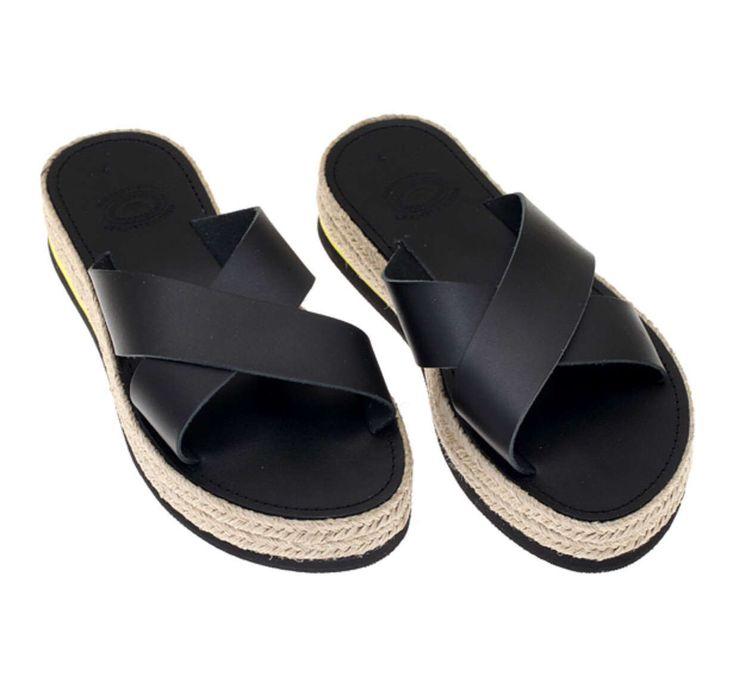 Handmade women platform sandals genuine leather