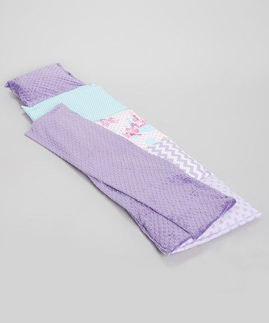Another great find on #zulily! Purple & Pink Princess Dot Quilted Nap Mat #zulilyfinds by family trip: kids' travel gear