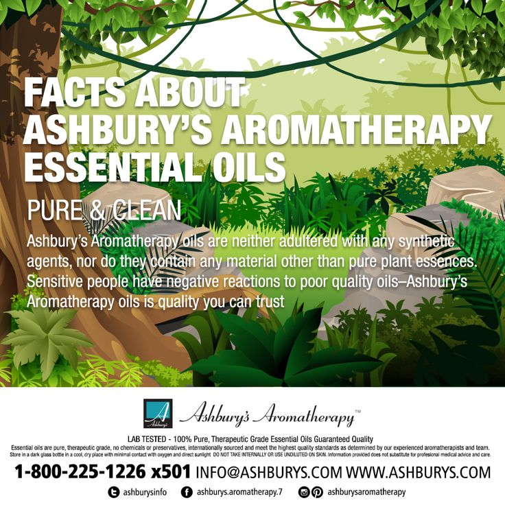 FACTS ABOUT ASHBURY'S AROMATHERAPY ESSENTIAL OILS PURE & CLEAN Ashbury's Aromatherapy oils are neither adultered with any syntheticagents, nor do they contain any material other than pure plant essences.Sensitive people have negative reactions to poor quality oils–Ashbury'sAromatherapy oils is quality you can trust. #ashburysaromatherapy