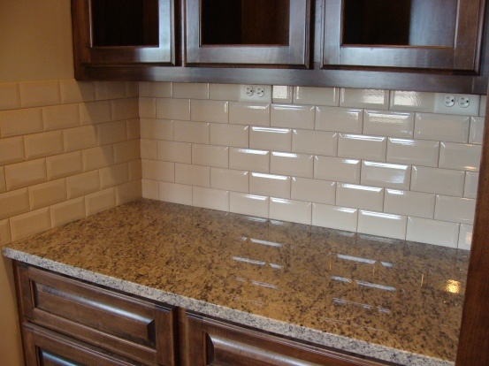 gallery of beveled subway tile