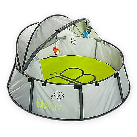 Perfect for indoor or outdoor use, bbluv's Nido 2 in 1 Travel Bed and Play Tent protects your baby from harsh sun, wind, and insects. Lightweight and easy to use, it includes a canopy, carry bag, removable comfort mat and toys to keep them entertained.