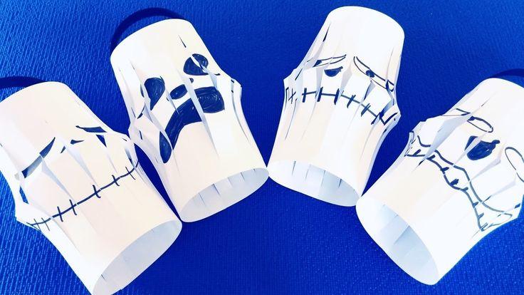 """DIY: Простые поделки на Хэллоуин - Фонарики """" Приведения"""". Видео для детей."""
