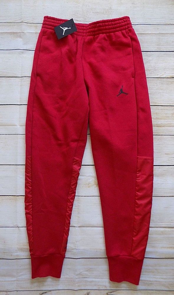 403916a2749 Nike Men's Jordan 11 Flight Fleece Hybrid Sweatpants Red 908364 687 Size  Small S #Jordan #TrackSweatPants