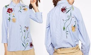 ZARA-WOMAN-EMBROIDERED-POPLIN-SHIRT-STRIPED-BLUE-WHITE-6895-249-NEW-SEASON-AW16