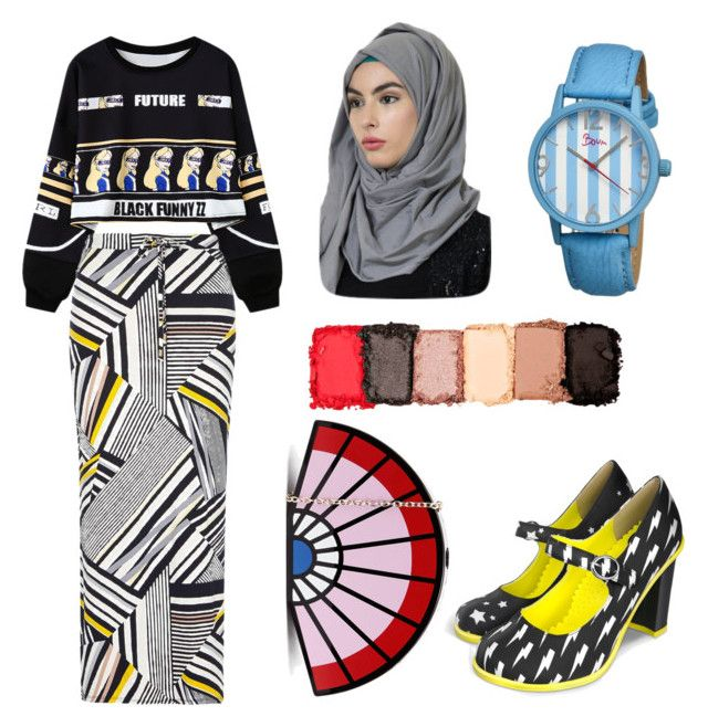 """""""How to mix your style with Hijab [ Yellow,Red,Blue] Versions"""" by nabillasyarah on Polyvore featuring Chicnova Fashion, Dorothy Perkins, NYX, Boum, WhatToWear, Howtostyle, lowprice, Hijaboftheday and StylingHijab"""