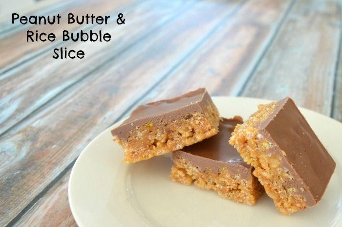 Peanut Butter and Rice Bubble Slice Recipe - Mum's Lounge