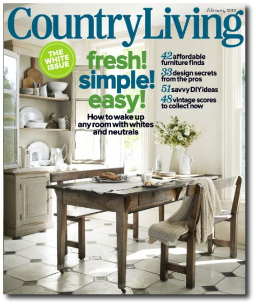 French Farmhouse Table Featured In Country Living Magazine April 2013