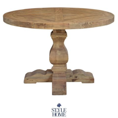 'Hudson' Parquet  Recycled Wood Round table