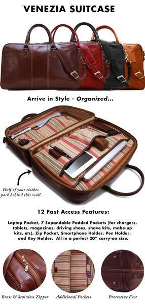 Floto Venezia Leather Suitcase Duffle Bag