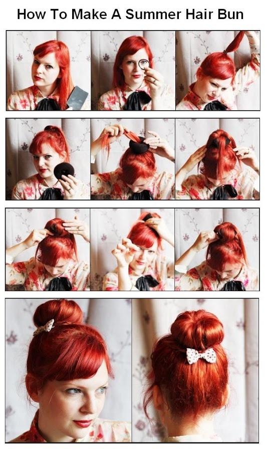 How To Make a Summer Hair Bun   hairstyles tutorial