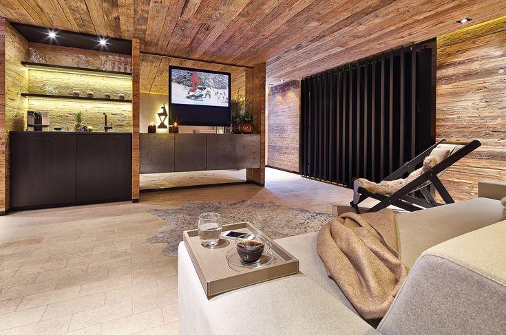 Penthouse Alpine Spirit: modernes Wohnzimmer
