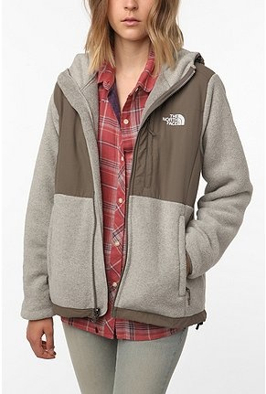 Northface taupe color block jacket. at urban outfitters? :)