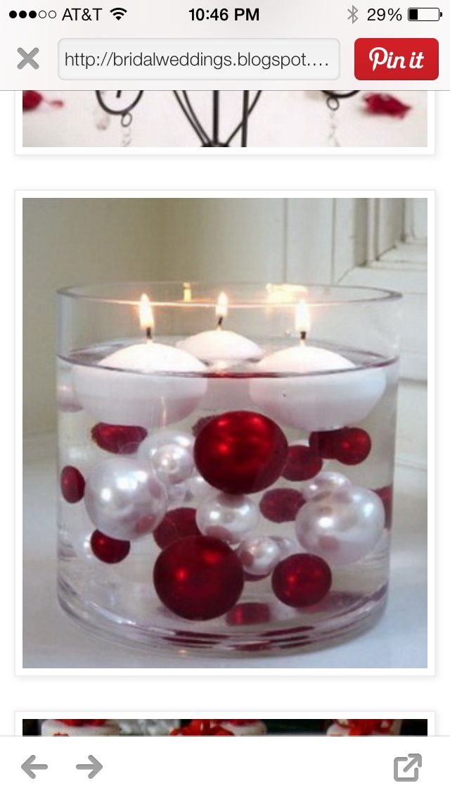 Pretty Christmas wedding centerpiece