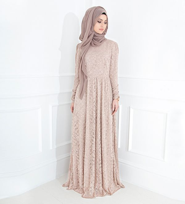 Blush Lace Gown - £89.99 : Inayah, Islamic Clothing & Fashion, Abayas, Jilbabs, Hijabs, Jalabiyas & Hijab Pins