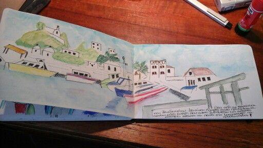 My travel journal, Summer 2015. Marathi island and Patmos. Greece