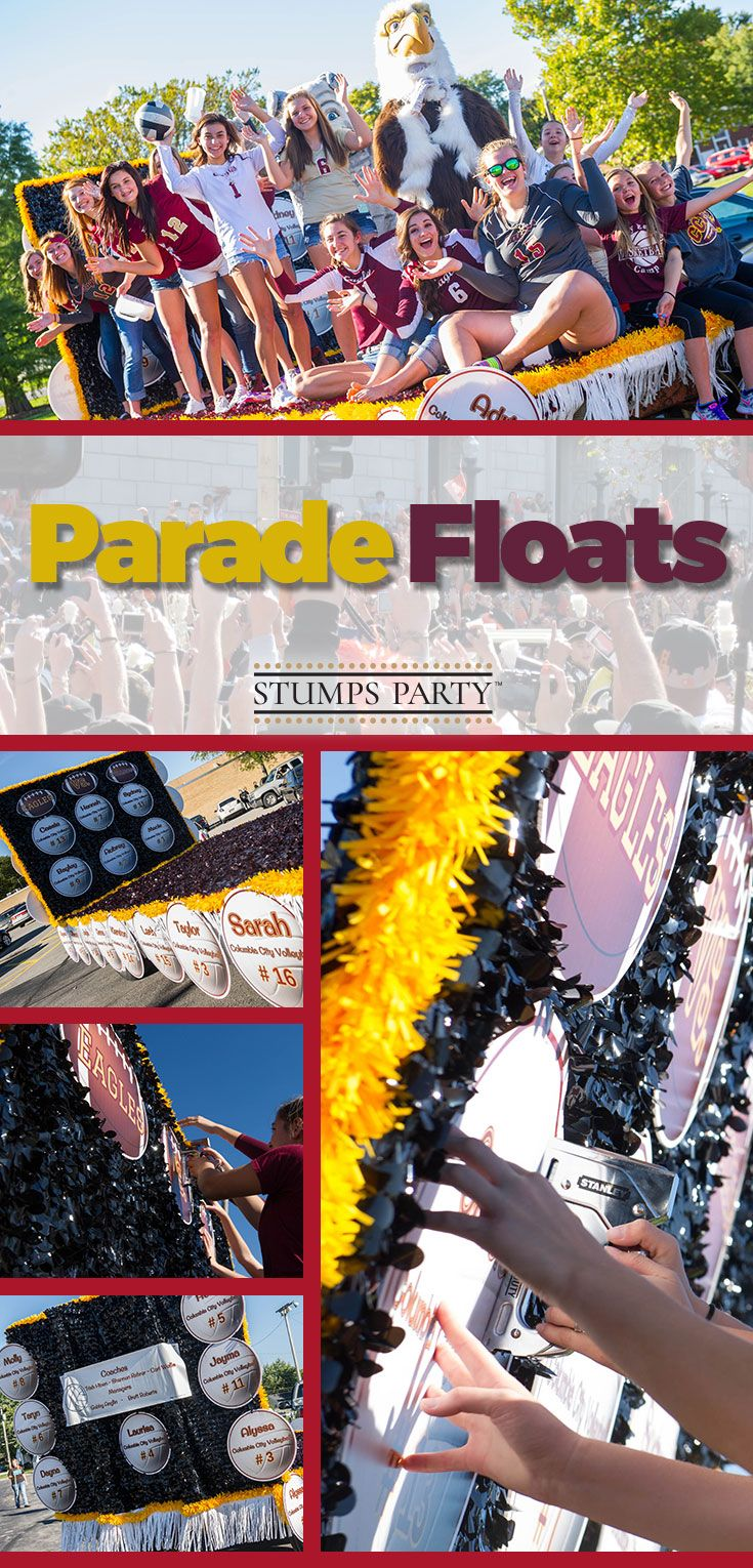 From homecoming to a holiday, Stumps Party has the supplies you need to create a fantastically memorable parade float without creating a budget problem you'd rather forget.