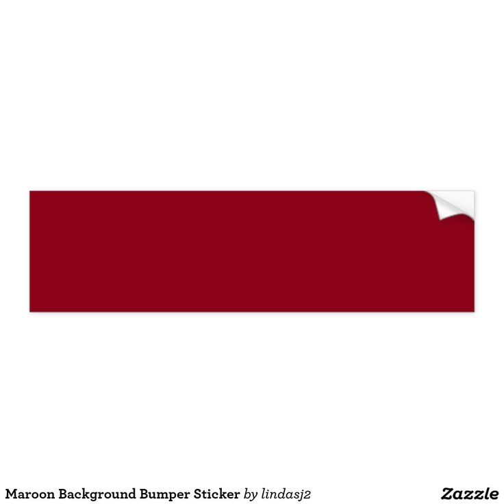 Maroon Background Bumper Sticker