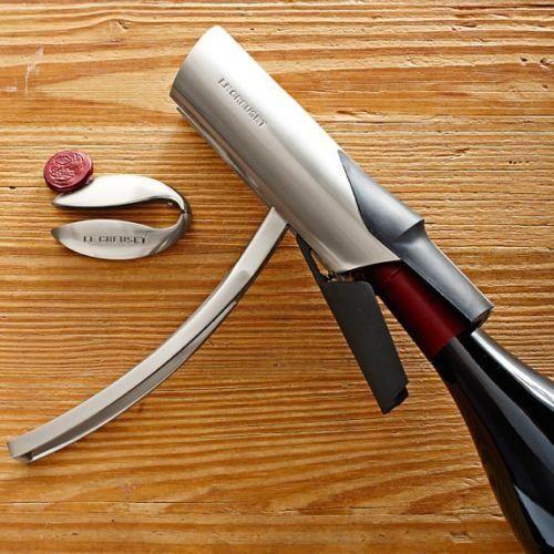 Le Creuset/Screwpull Vertical Lever Wine Opener Set with Foilcutter (Antique Chrome/Silver Finish) Le Creuset http://www.amazon.com/dp/B00A833222/ref=cm_sw_r_pi_dp_AznRub0TK2ZK5