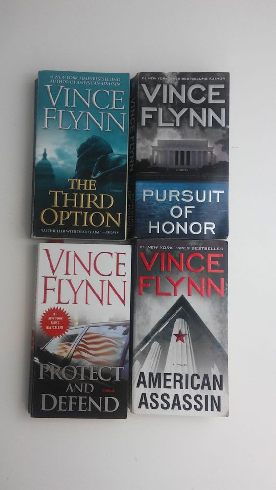 Vince Flynn Books 4 Lot Pursuit of Honor AMERICAN ASSASSIN Protect and Defend