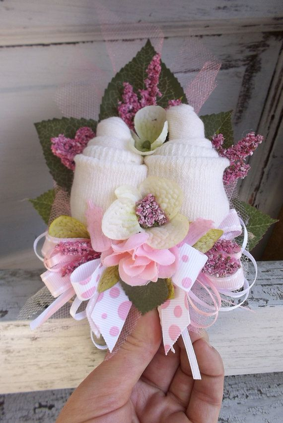13 best sock flowers images on pinterest nappy cake for Pink diaper bouquet
