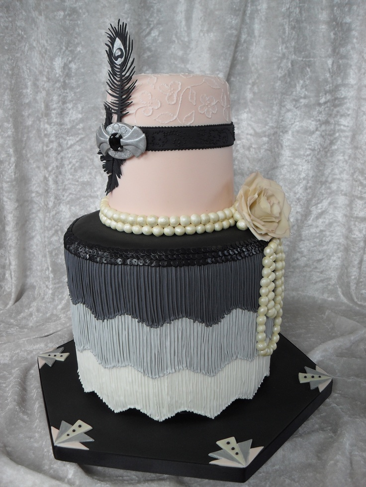 1930 s Art Deco style wedding cake Gatsby party ...