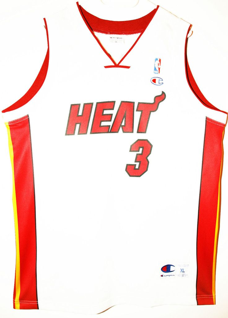 Champion NBA Basketball Miami Heat #3 Dwayne Wade Trikot/Jersey Size 48 - Größe XL - 59,90€ #nba #basketball #trikot #jersey #ebay #sport #fitness #fanartikel #merchandise #usa #america #fashion #mode #collectable #memorabilia #allbigeverything
